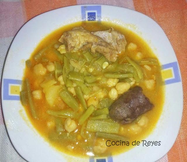Potaje de jud as verdes con garbanzos cocina de reyes - Potaje de garbanzos y judias ...