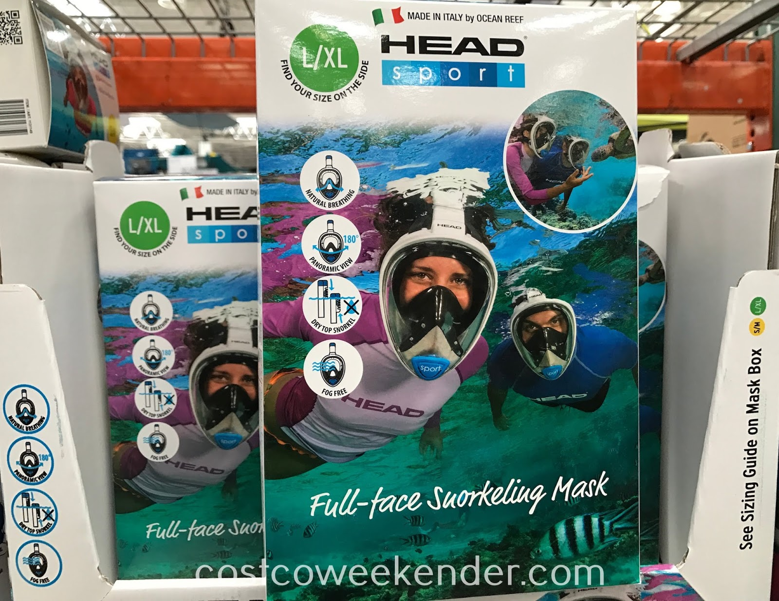 Breathe more naturally when underwater with the Head Full-Face Snorkeling Mask