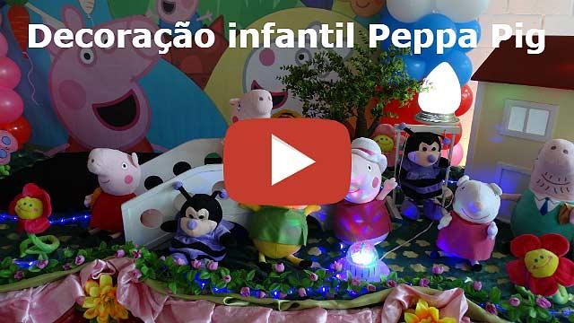 Vídeo da decoração Peppa Pig