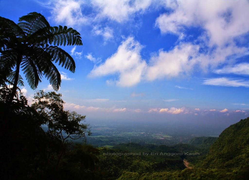 View arah Timur dari Gunung Galunggung