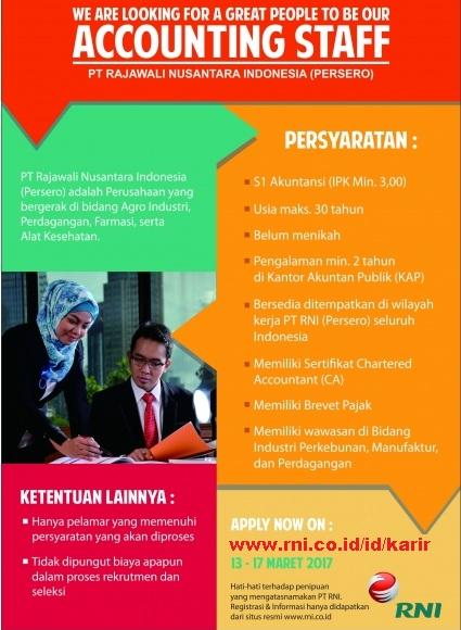 Lowongan Kerja Rajawali Nusantara Indonesia (Persero)