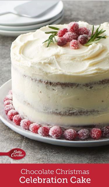 Chocolate Christmas Celebration Cake