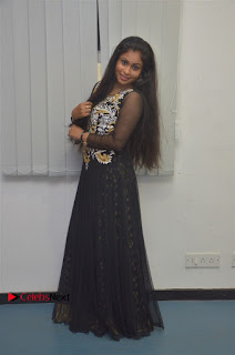 Tamil Actress Shreya Sri Stills in Black Akarkali Dress at Vanga Vanga Team Interview  0024.jpg