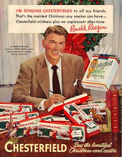 ronald reagan cigarette ad