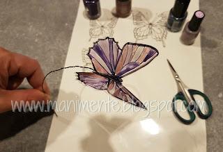 farfalla fai da te in acetato