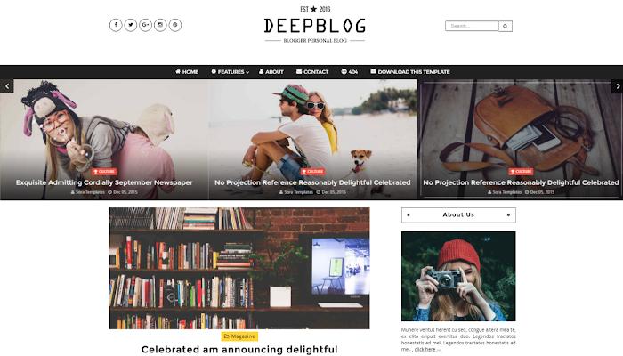 Top 10 Najlepsze Responsywne Darmowe Szablony Blogspot