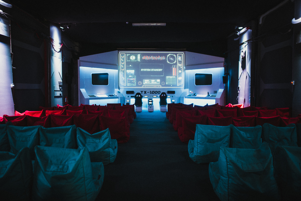 Backyard Cinema have replicated the inside of a space craft for their Mission To Mars theme