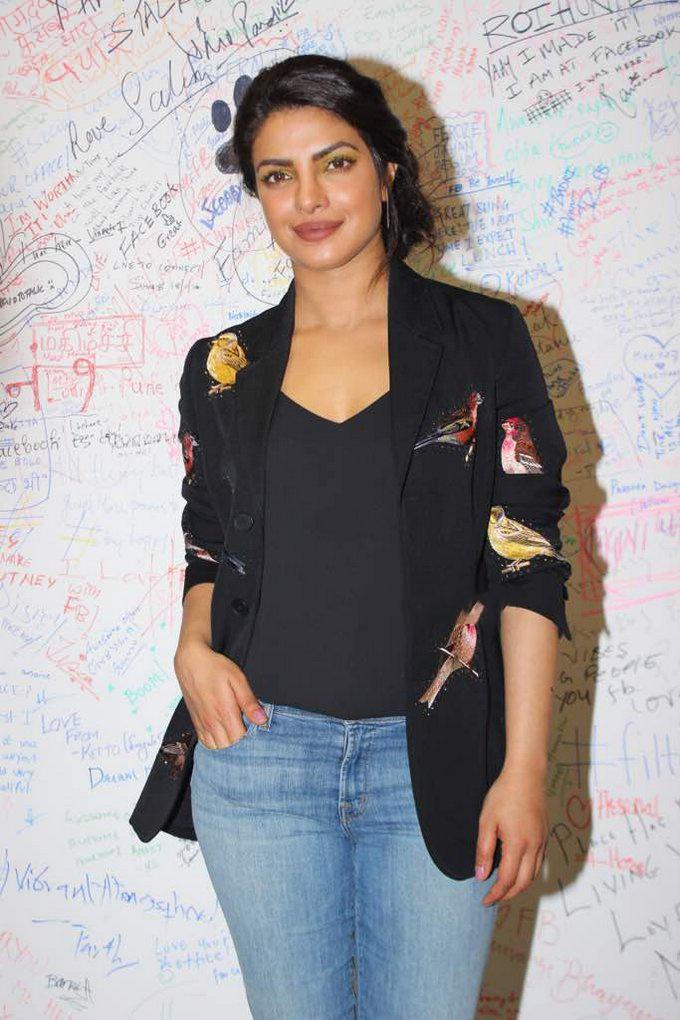 Priyanka Chopra interactive session at the Facebook office