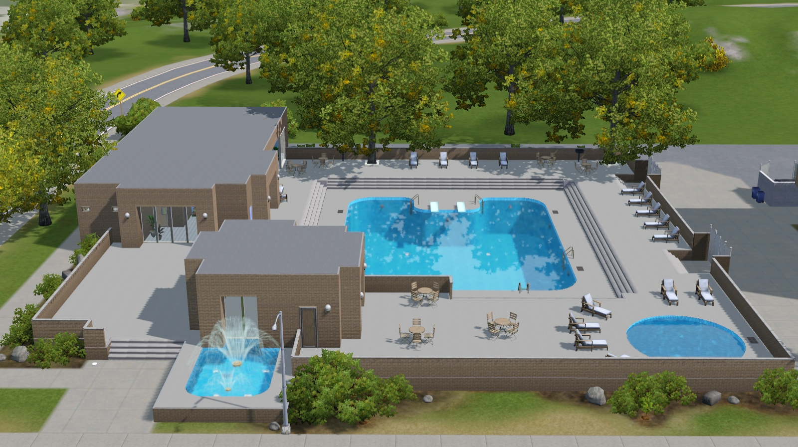 Sims 3 community lots compendium sims 3 pools for Pool design sims 3