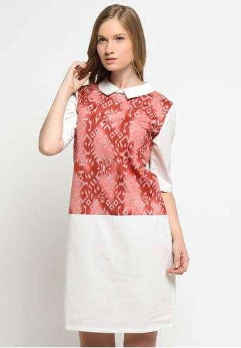 Model Baju Batik Kombinasi Kain Polos Untuk Wanita
