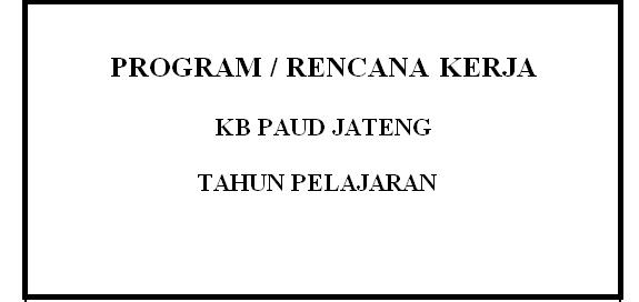 Program Kerja PAUD
