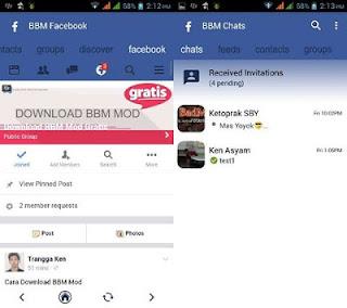 BBM MOD Facebook APK Versi Terbaru