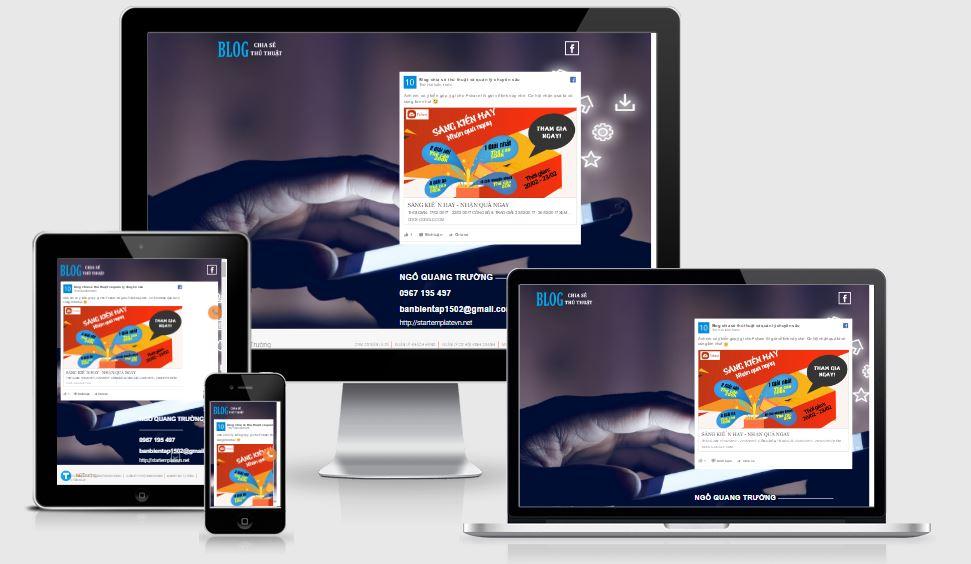 Chia sẻ mẫu Landing Page giới thiệu công ty tuyệt đẹp