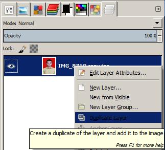 Membuat Layer Duplicate Pada GIMP