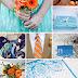 Decoração do Casamento: Azul e Laranja