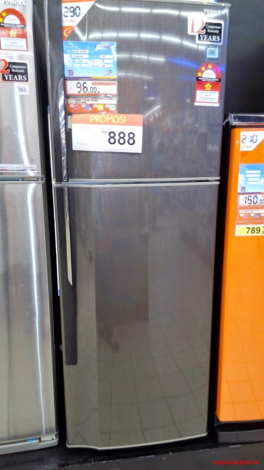 Harga peti sejuk 2 pintu  akuayut