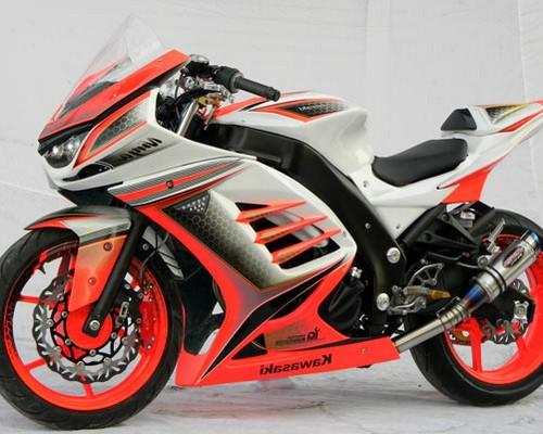 Modifikasi ninja 250 fi mono rr karbu hijau merah putih
