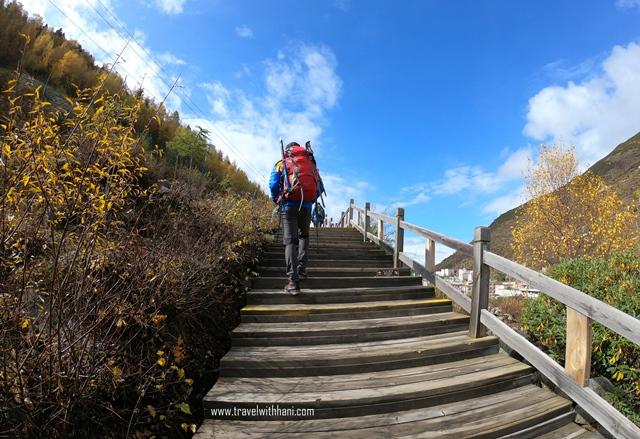 Catatan Perjalanan Ke Gunung Siguniang, Puncak Da Feng (Hari Keempat) travel with hani othman