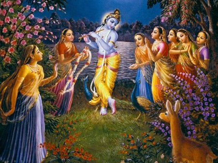 Lord Krishna Picture with Gopis