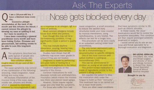 Ask The Experts: Nose Gets Blocked Every Day