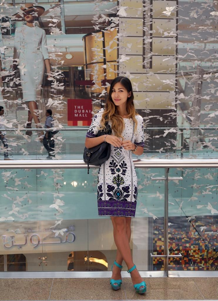 Euriental | travel trip report, Dubai. At the Dubai Mall wearing Missoni wedges and Chloe bag.