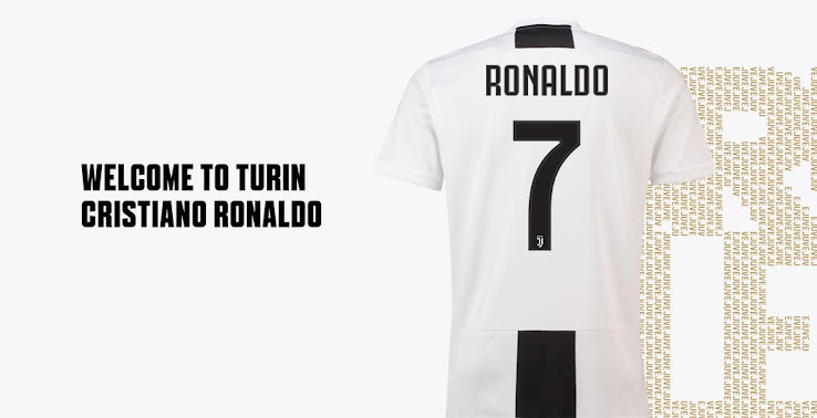 hot sale online c97c1 901ff Welcome to Juventus: Buy Ronaldo's New Shirt Now - Footy ...