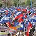 Marchan simpatizantes del gobierno de Nicaragua.