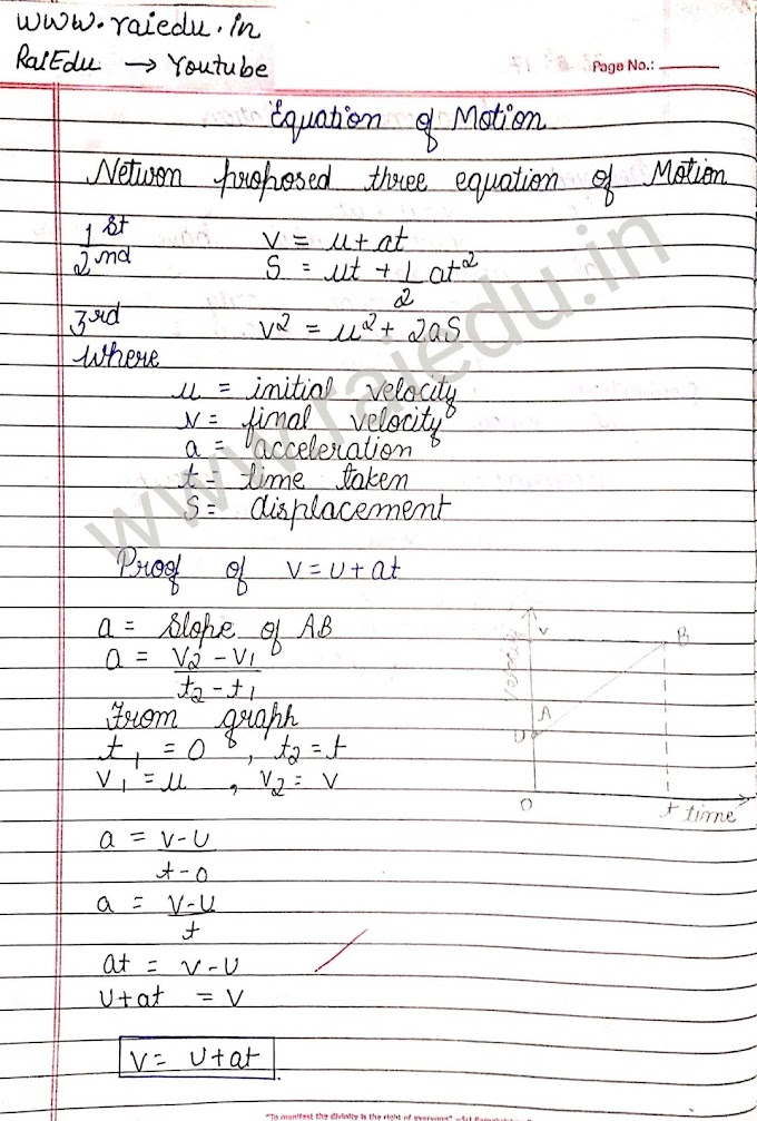 Newton's Equation of motion proof and based numerical