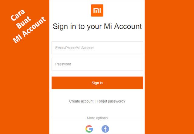 cara membuat MI Account