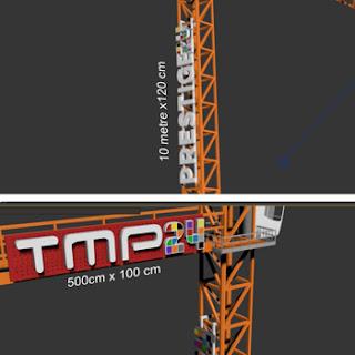 Profosyonel kule vinç tabelası tasarım imalat ve montajı