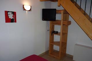 Hotel La Garanne de Labeaume, habitación cuádruple.