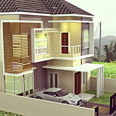 Model Desain Rumah Minimalis 2 Lantai Sederhana Asri