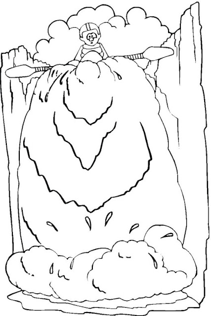 Coloring Pages for Kids Waterfall