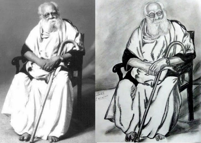 Periyar E. V. Ramasamy - PENCIL DRAWING