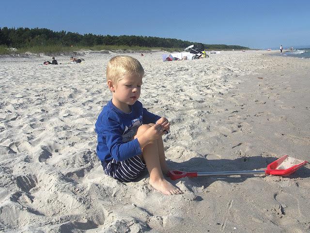 plaża, wakacje, Jurata, dziecko
