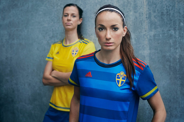 fb6084312 Adidas Sweden 2015 Women's National Team Kits Revealed - Footy Headlines