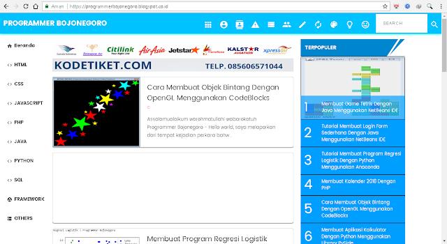 Script HTML Quick Start Template Premium Blog Programmer Bojonegoro Valid AMP 100% GRATIS