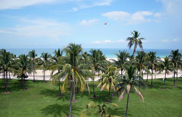 Parque e praia Lummus Park em Miami Beach