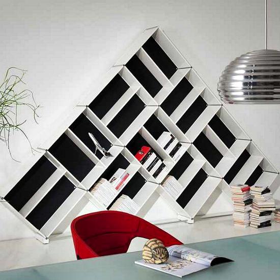 Kumpulan Gambar Rak Buku Dinding Minimalis Kreatif Dan Modern - Rak Buku Dinding Berbentuk Pyramid