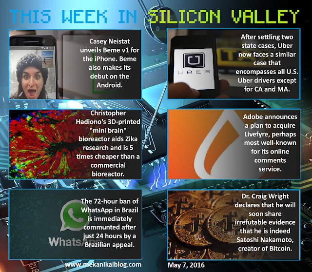 This Week in Silicon Valley [May 7, 2016] (Tech & Science Infographic)