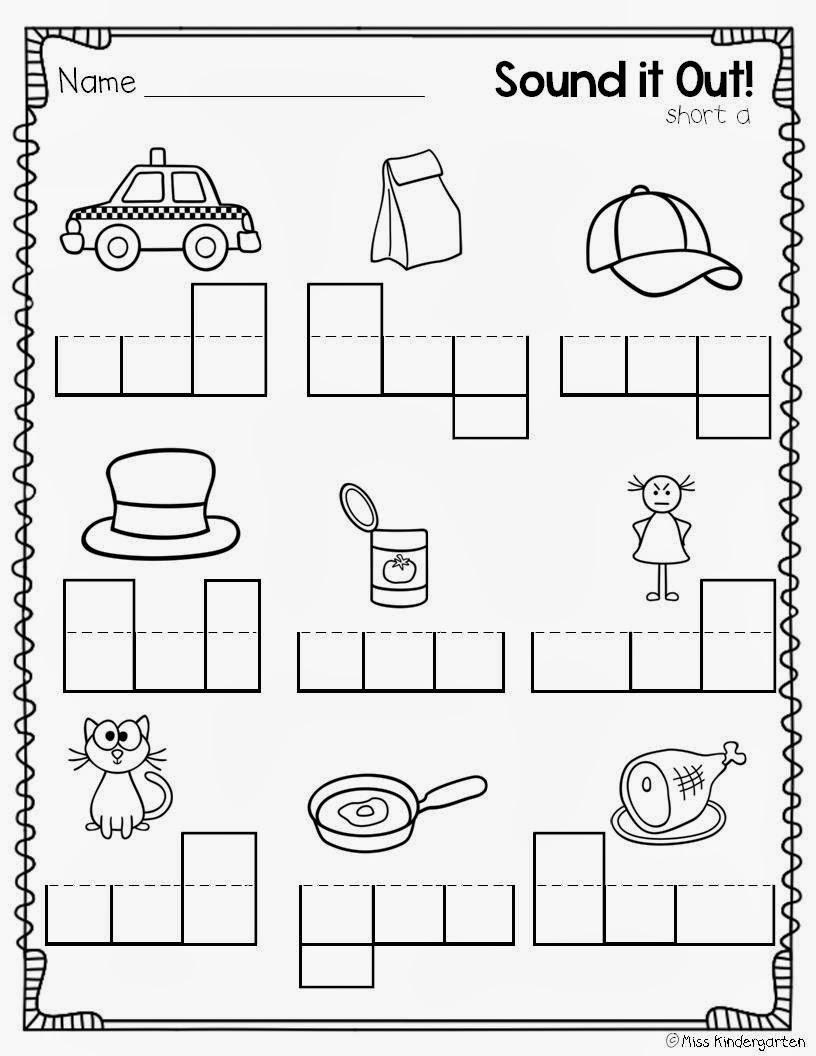 Printables Kindergarten Cvc Worksheets kindergarten cvc worksheets davezan for phonics on short