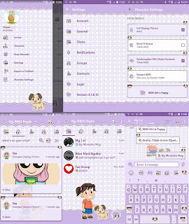 Tema BBM Mumuku May v3.1.0.13 Update Girl n Puppy Themes [Image Bikinan Sendiri]