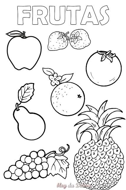 Dibujos Para Colorear De Frutas Para Imprimir Imagui