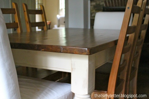 farmhouse dining table with chalk paint