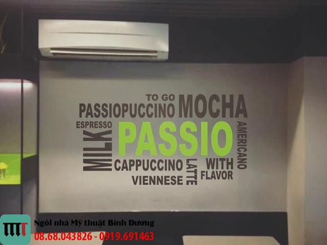 Thiet ke va thi cong tranh tuong chu quan Passio Coffee tai Thu Dau Mot