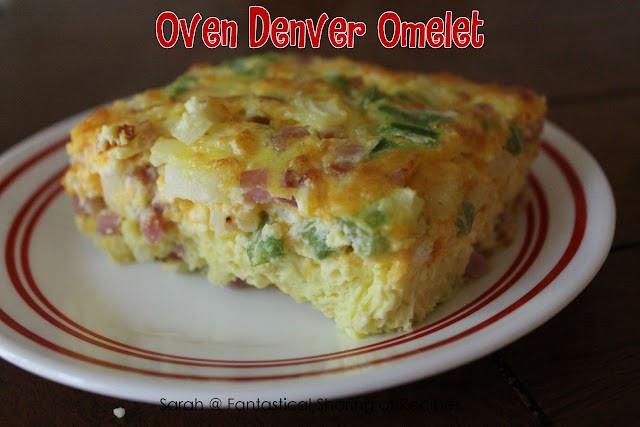 Oven Denver Omelet #breakfast #eggs #omelet #ham #recipe
