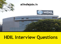 HDIL Interview Questions