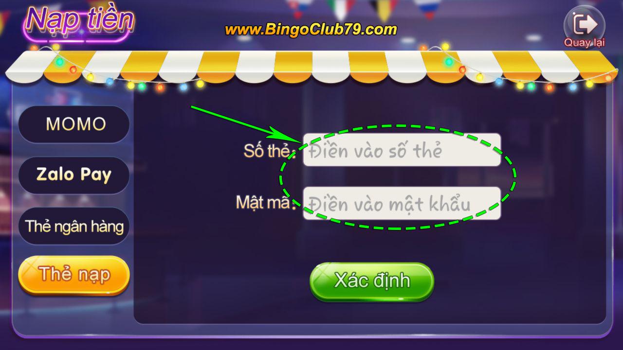 Nhập Code Bingo Club