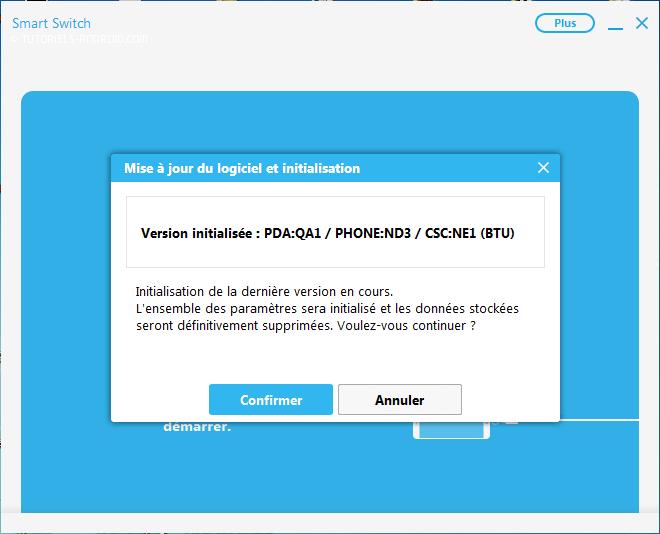 Confirmer firmware infos - Smart Switch