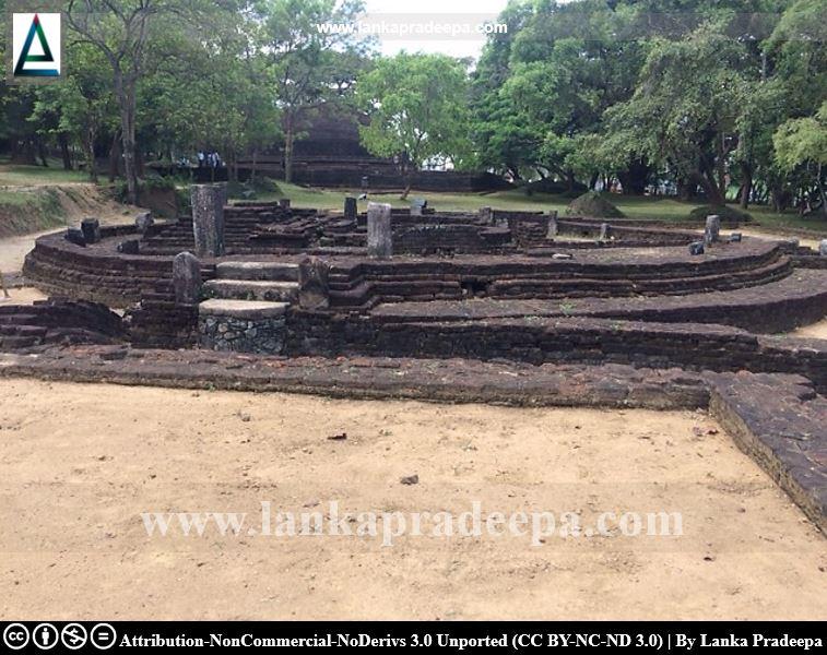 Ruins of a Bodhighara, Dambulla Somawathi